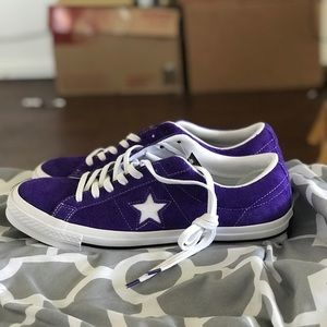 Purple Converse One Star SZ 10